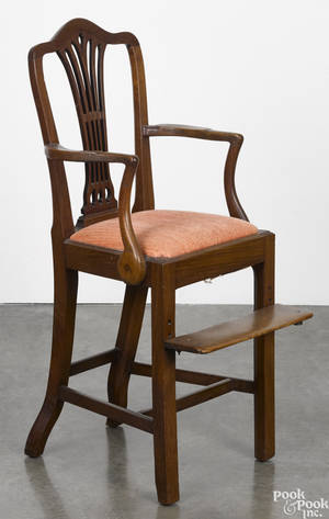 George III mahogany highchair ca 1780