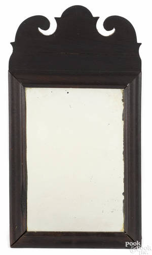 Queen Anne mahogany courting mirror 18th c