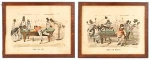 Group of 2 Currier  Ives Darktown Series Prints