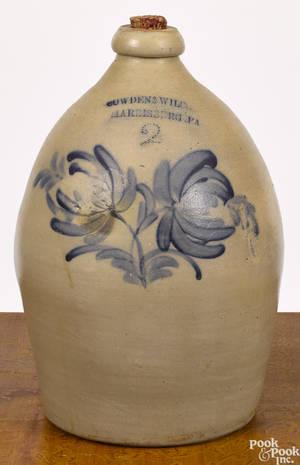 Pennsylvania twogallon stoneware jug 19th c
