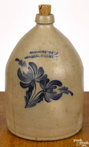 Pennsylvania twogallon stoneware jug 19th c