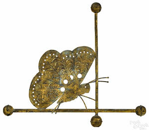 Sheet copper butterfly weathervane late 19th c
