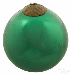 Large green Kugel Christmas ornament
