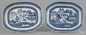 Two Chinese export porcelain Canton platters 19th c