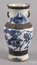 Chinese Qing dynasty crackle glaze vase