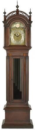 Mahogany tall case tube clock