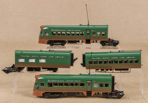 Modern  North Shore Line  Electroliner  fourpiece train set