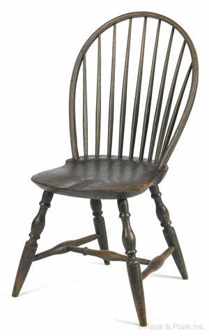 Pennsylvania bowback Windsor side chair