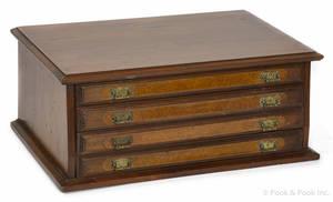 Victorian walnut spool cabinet
