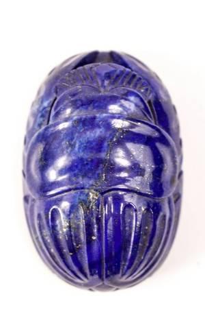 Hand Carved Lapis Lazuli Scarab