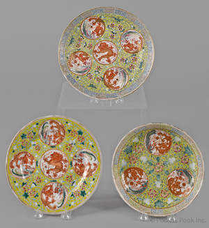 Two Chinese export porcelain plates 19th c