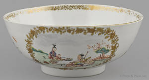 Chinese export porcelain famille rose bowl late 18th c