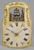 Continental wag on the wall clock mid 19th c