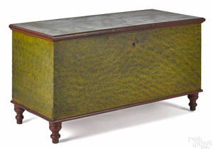 Pennsylvania painted poplar blanket chest mid 19th c