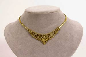 21k Gold Middle Eastern Style Collar Necklace