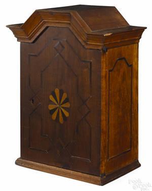 Black walnut valuables cabinet midlate 18th c