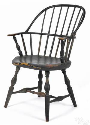 New England sackback Windsor armchair ca 1790