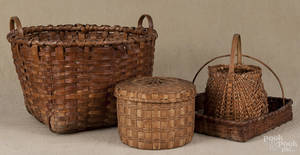 Three splint gathering baskets