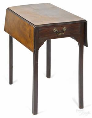Diminutive George III mahogany Pembroke table late 18th c