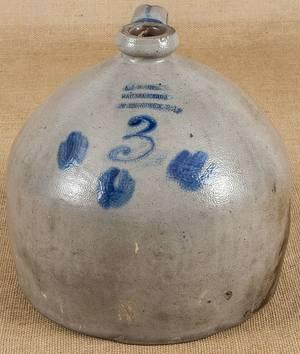 New Jersey stoneware ovoid jug