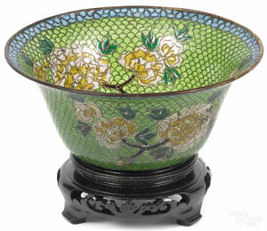 Chinese plique au jour bowl early 20th c