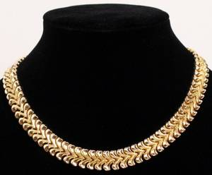 18K Pink Gold Link Necklace