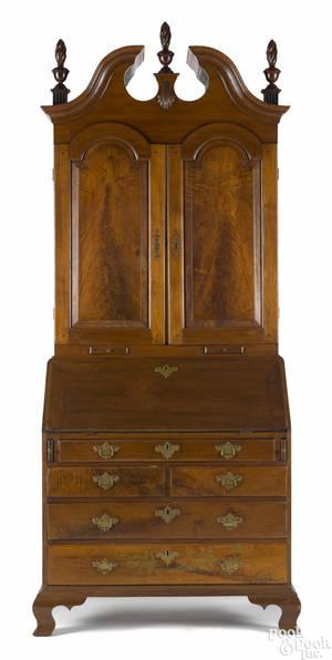 Chester County Pennsylvania Queen Anne walnut secretary desk ca 1760