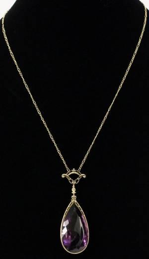 Art Nouveau Style Kohn Amethyst Necklace