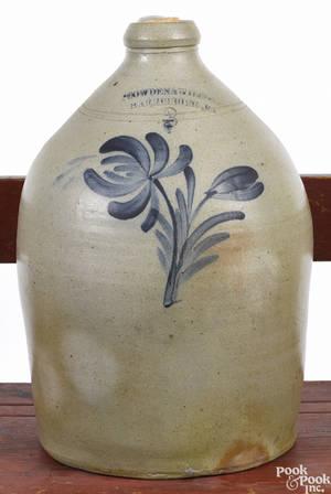 Pennsylvania threegallon stoneware jug 19th c