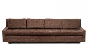 Mid Century Modern Ribbed Velvet Sofa