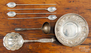 Four Tiffany  Co sterling silver ice tea spoons