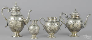English silver plated tea service by Walker  Hall late 19th c