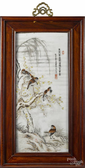 Chinese porcelain plaque 19th c