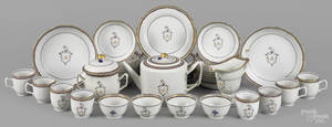 Thomas and Sarah Mifflin Chinese export porcelain tea and luncheon service late 18th c