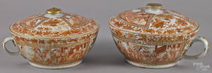 Pair of Chinese export porcelain chamber pots 19th c