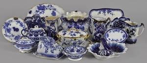 Collection of flow blue porcelain
