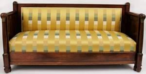 Mahogany  Gilt Metal Mounted Empire Style Sofa