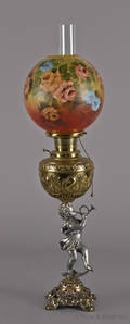Victorian piano lamp