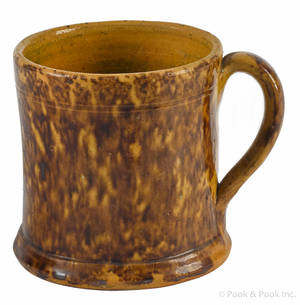 Pennsylvania redware mug 19th c