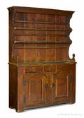 Pennsylvania stained pine and poplar pewter cupboard ca 1770