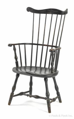 New England combback Windsor armchair ca 1790
