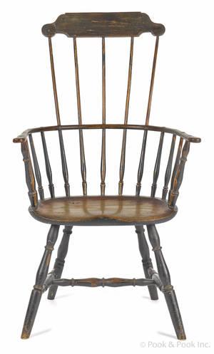 New England fanback Windsor armchair ca 1790