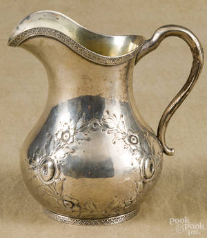 New York coin silver pitcher