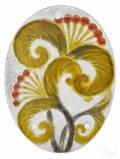 Rousseau pte de verre floral pendant