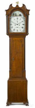 Scottish oak tall case clock ca 1800