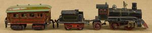 Marklin threepiece tin windup train set