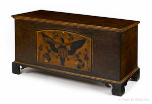 Centre County Pennsylvania painted pine dower chest dated