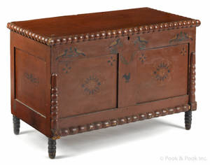 Painted poplar blanket chest ca 1830