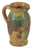 Shenandoah Valley Virginia redware cream pitcher 19th c