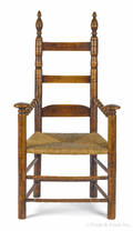 New London County Connecticut William  Mary great chair ca 1710